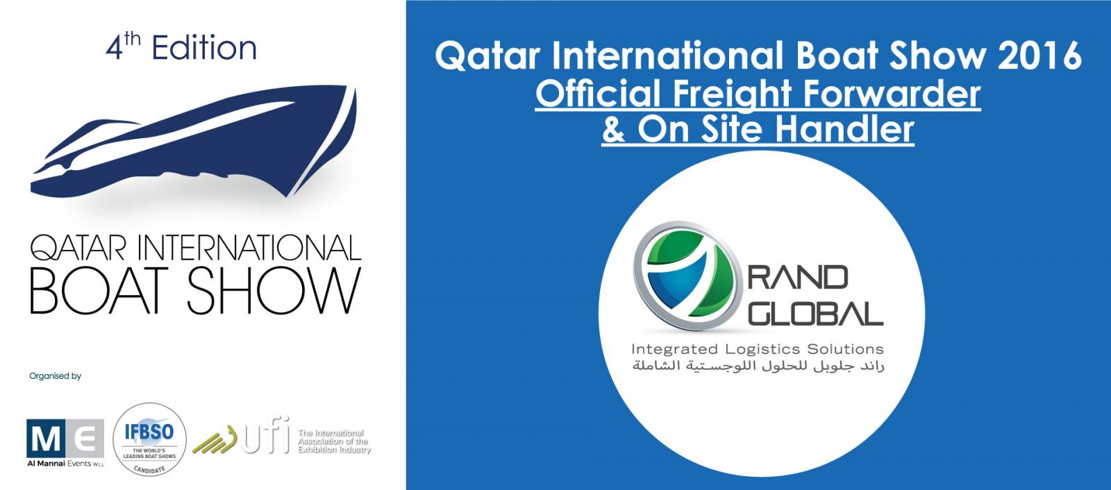 QIBS 2016 Announce Rand Global Official Freight Forwarder