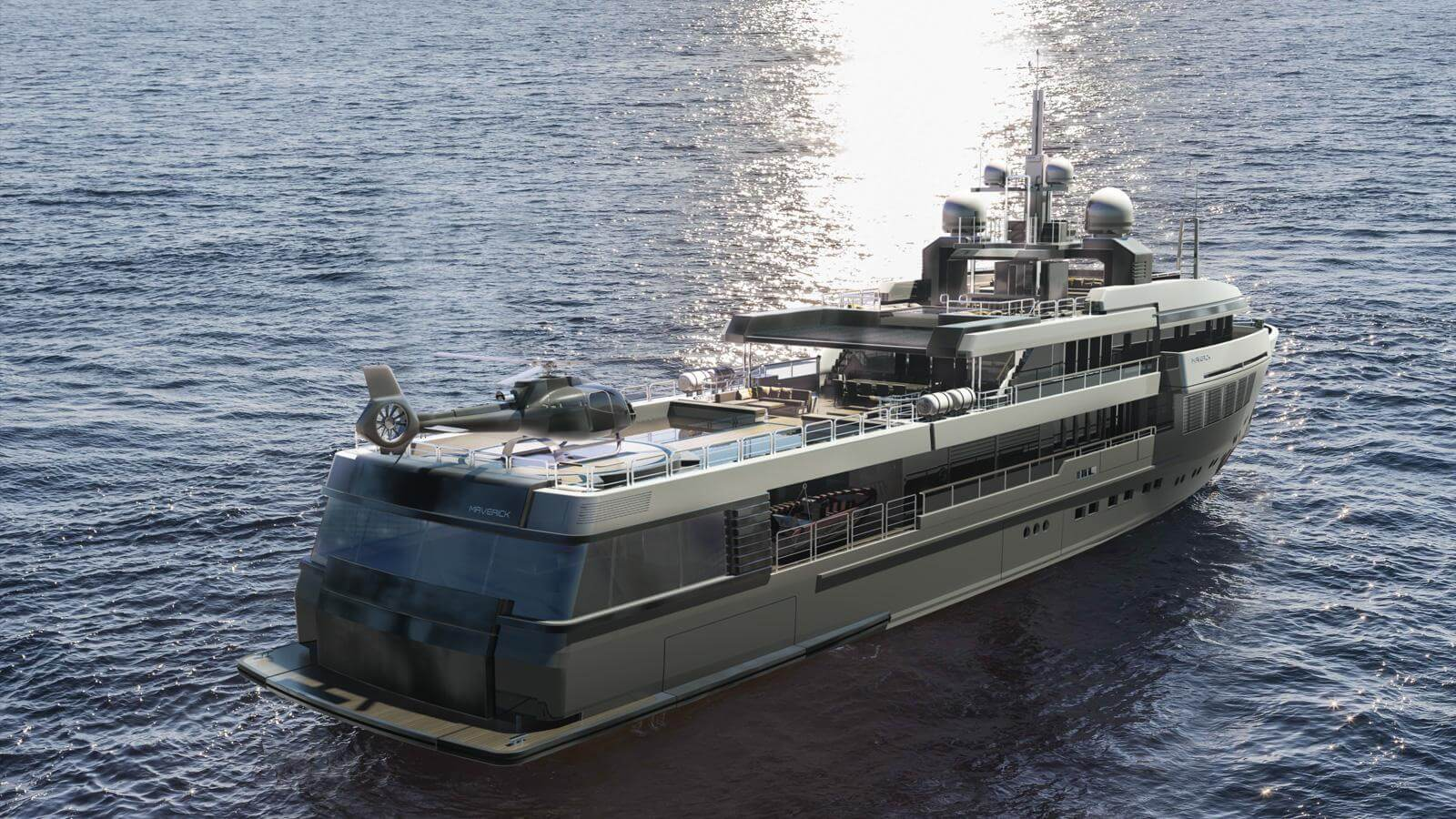 Rossinavi Explorer Yacht Concept Maverick 55 Paolo Nari Design AFT View