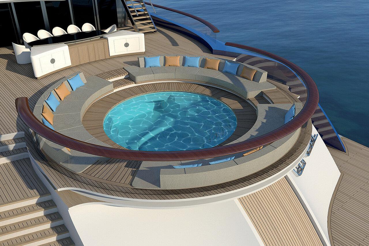 Fincantieri 90M Superyacht Linea - Jacuzzi