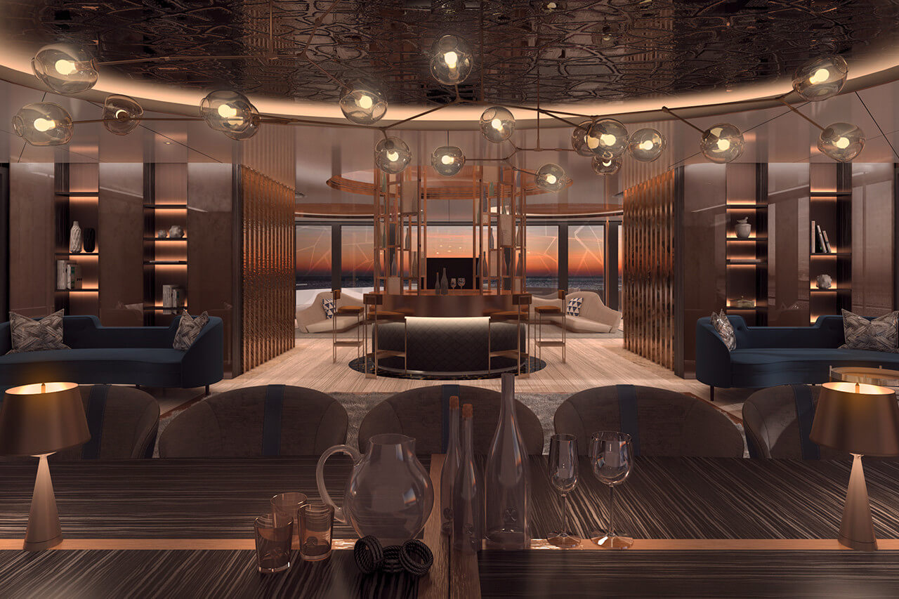 Fincantieri 90M Superyacht Linea - Living Area