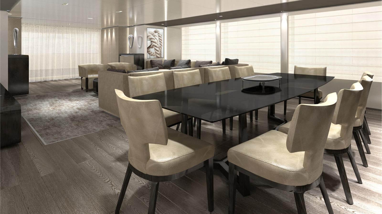 Baglietto 43M Fast Yacht - Design Dining Area