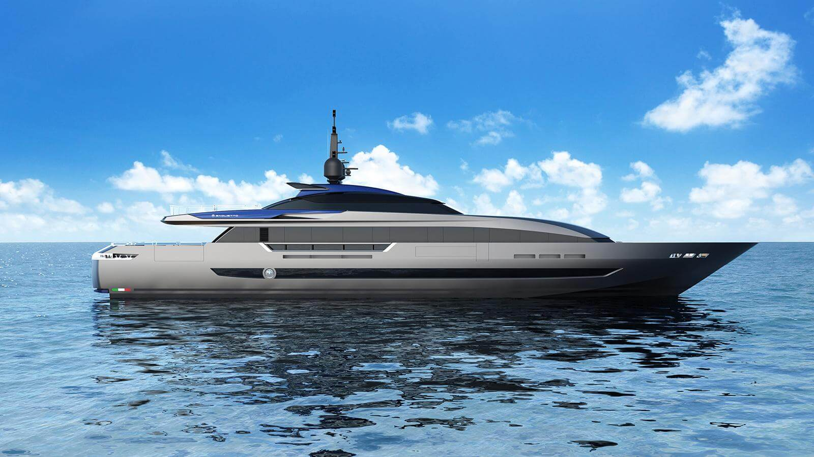 Baglietto 43M Fast Yacht - Side View