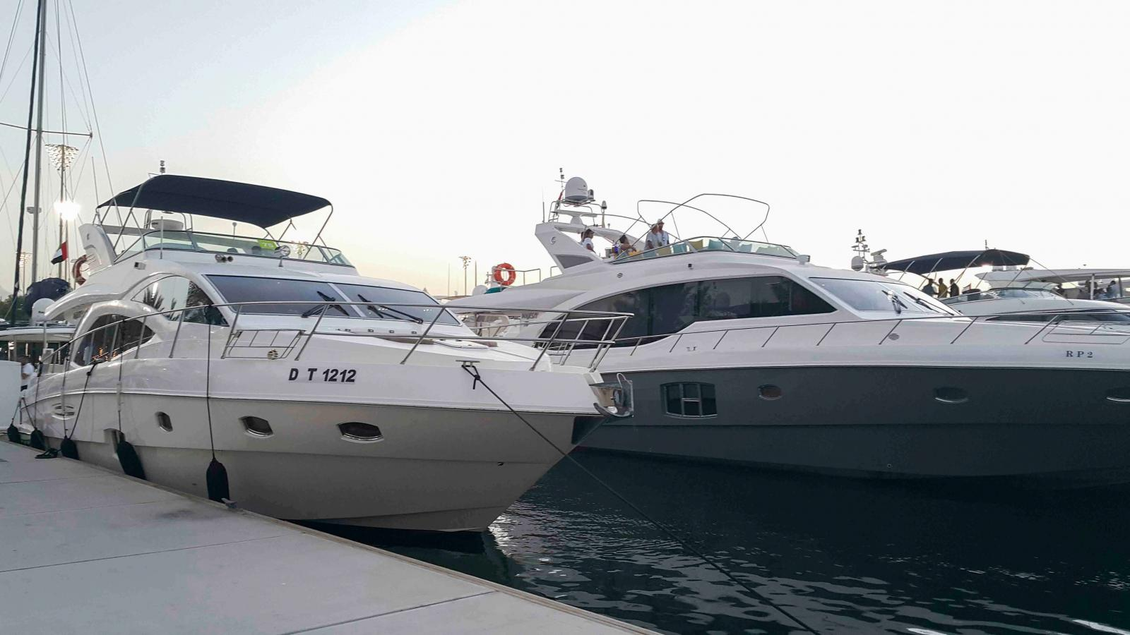 Gulf Craft - Majesty Yachts in YAS Marine Abu Dhabi during the F1