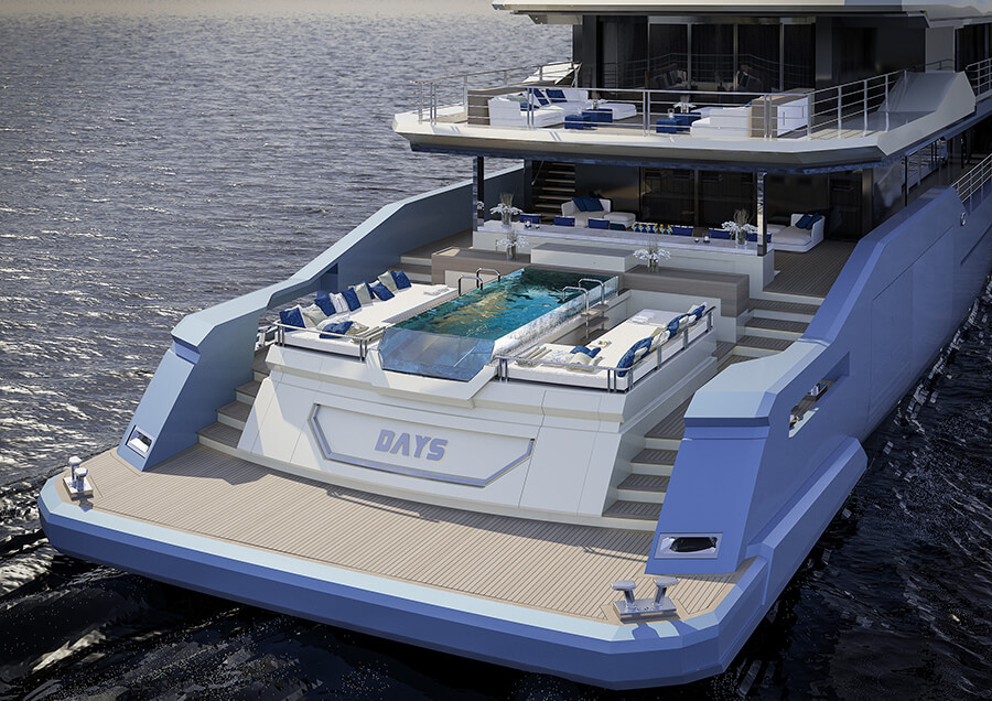 Ice Yachts 68M - Exterior AFT View