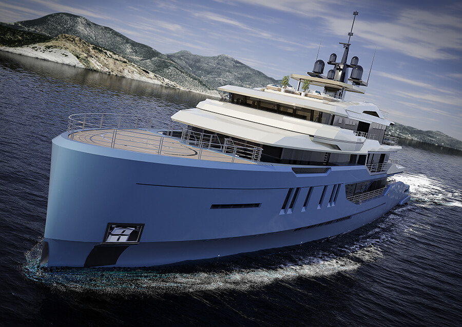 Ice Yachts 68M - Exterior Bow View