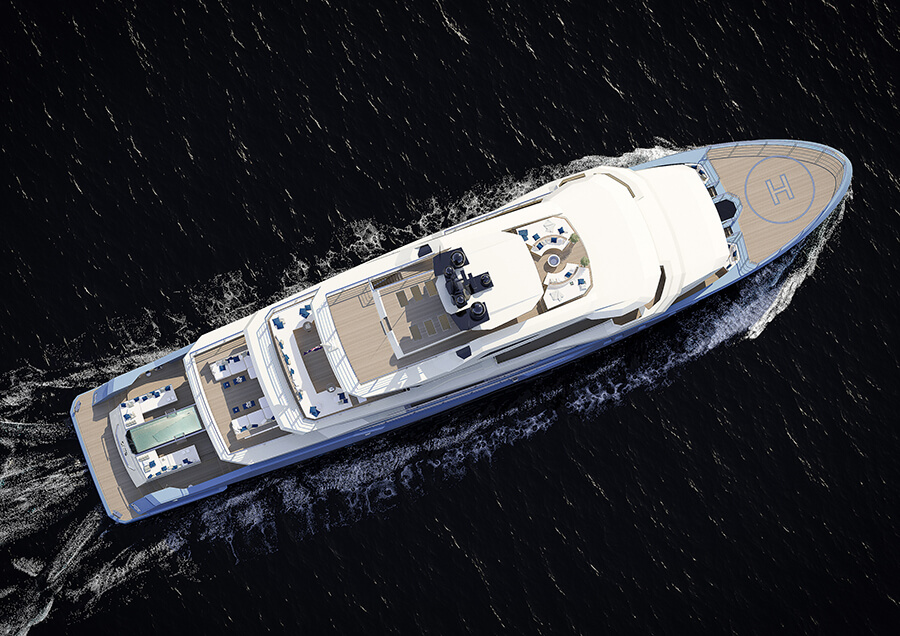 Ice Yachts 68M - Exterior Drone View