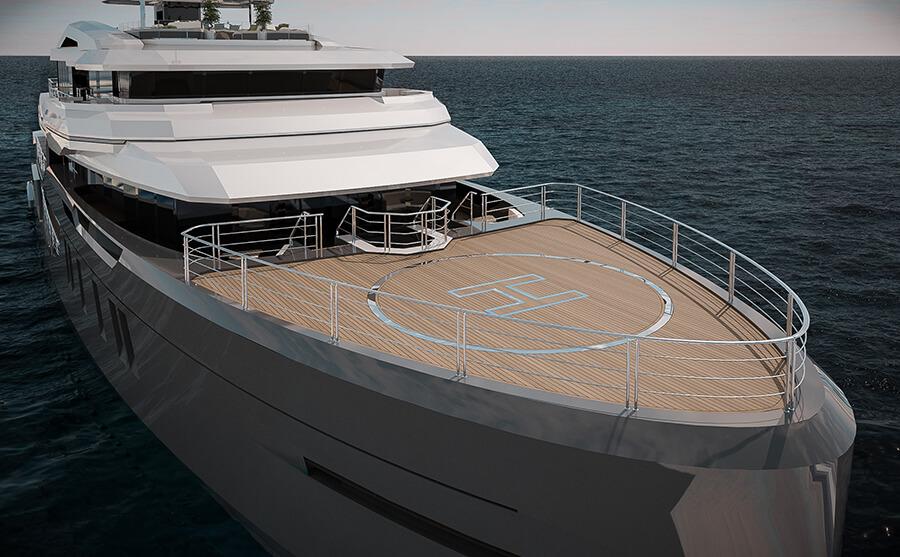 Ice Yachts 68M - Exterior Helipad