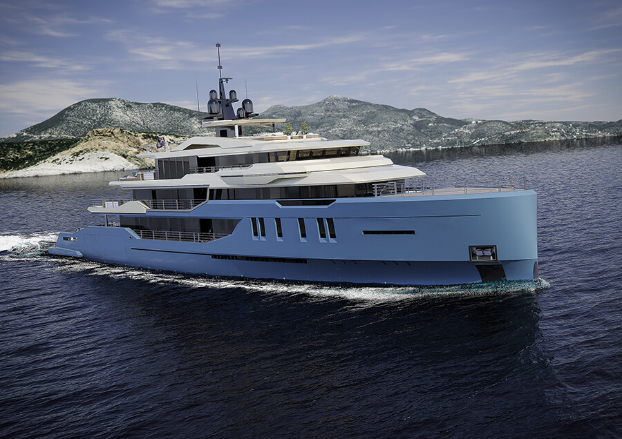 Ice Yachts 68M - Exterior Side View