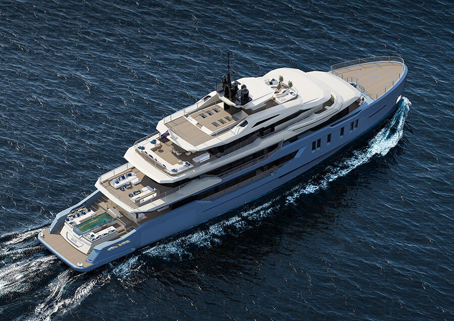 Ice Yachts 68M - Exterior Top View