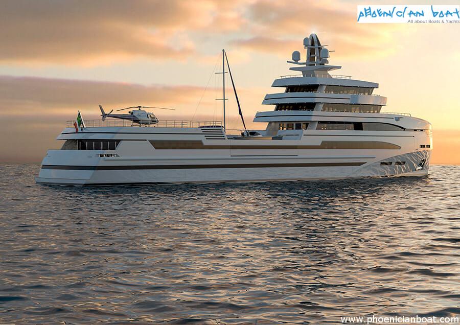 Rosetti Superyachts 85M Concept - Spadolini