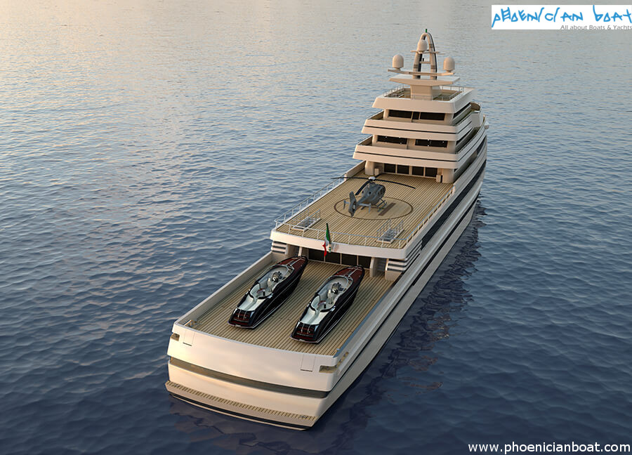Rosetti Superyachts 85M Concept - AFT View