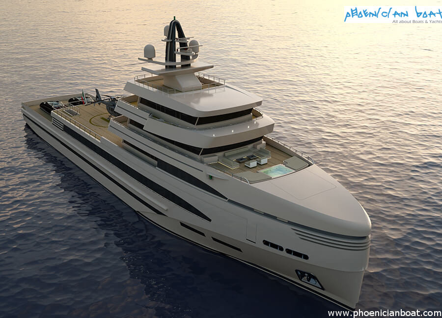 Rosetti Superyachts 85M Concept - Bow View