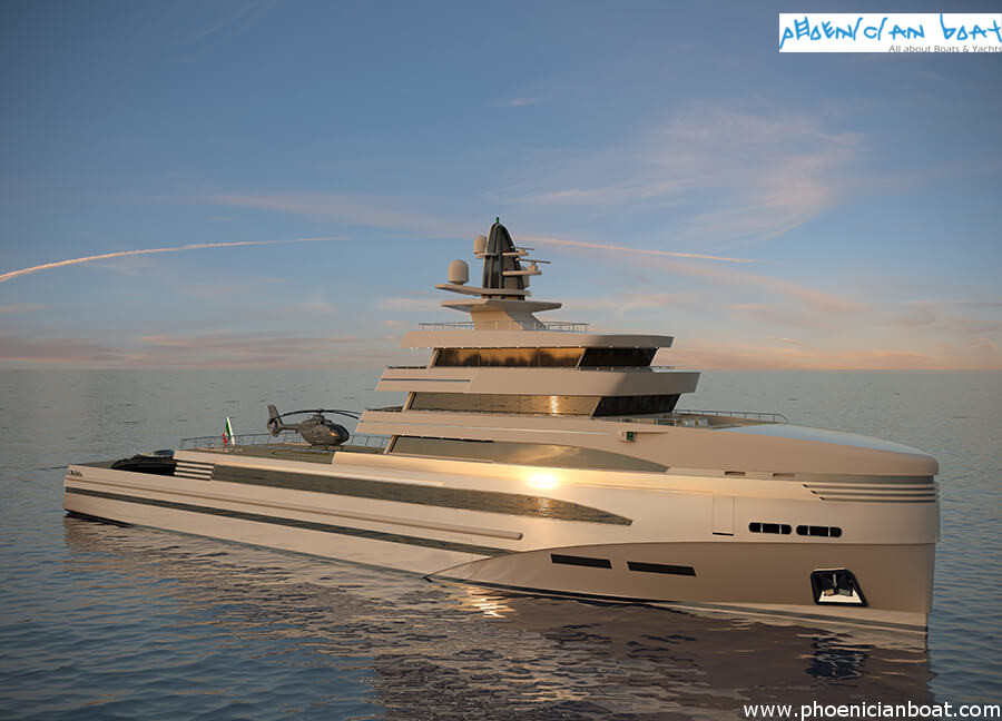Rosetti Superyachts 85M Concept - Side View
