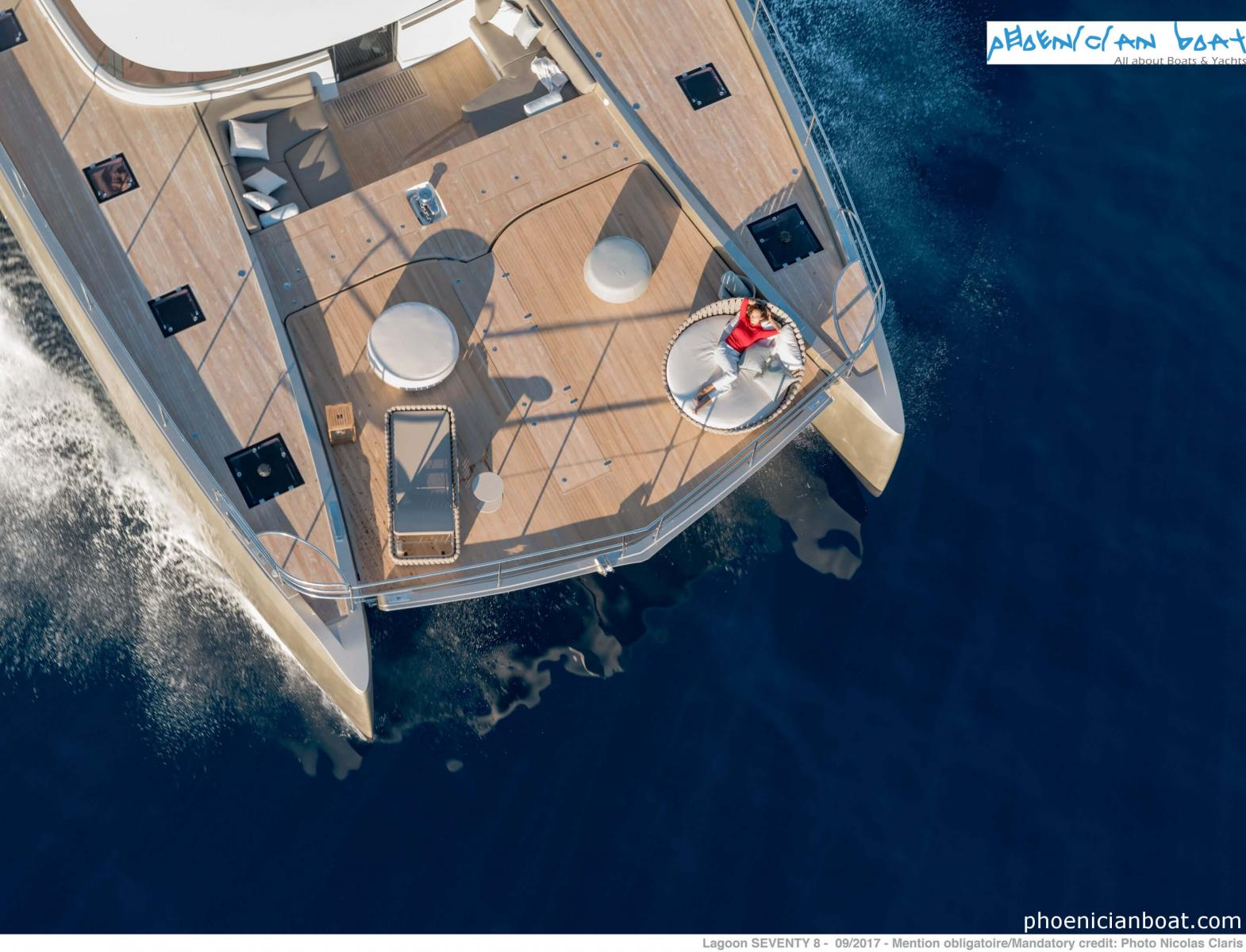 Lagoon Catamarans​ 78 MY - Bow View