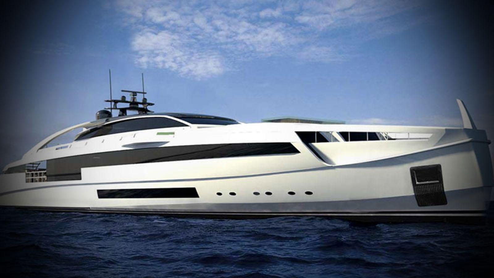 Rossinavi mega yacht AURORA rendering