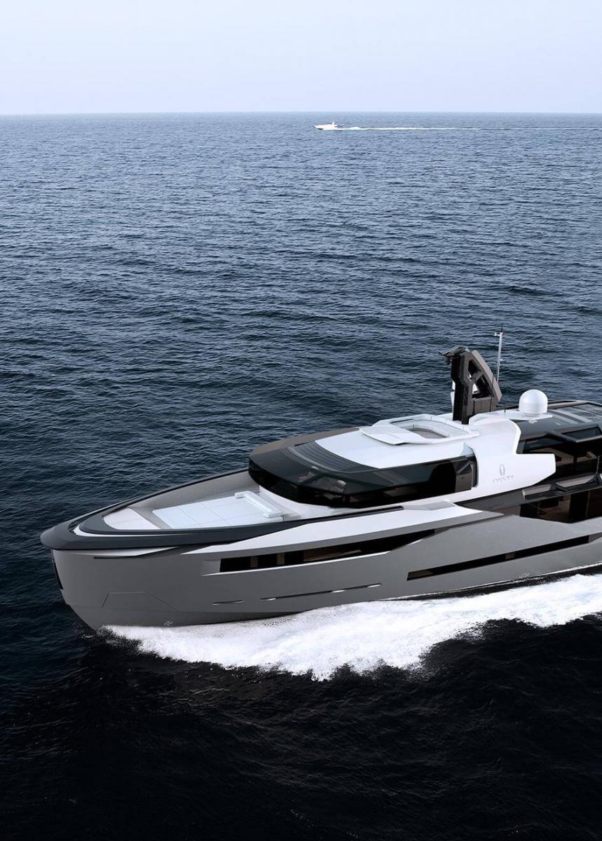 Aeon 380 Concept Yacht Running Shot - Scaro Design