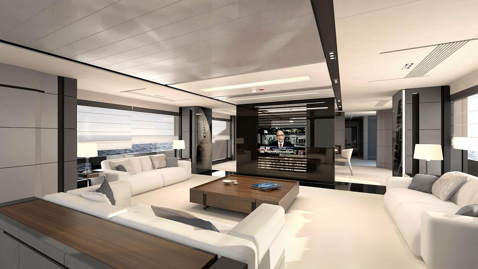 Aeon 380 Concept Yacht Saloon - Scaro Design