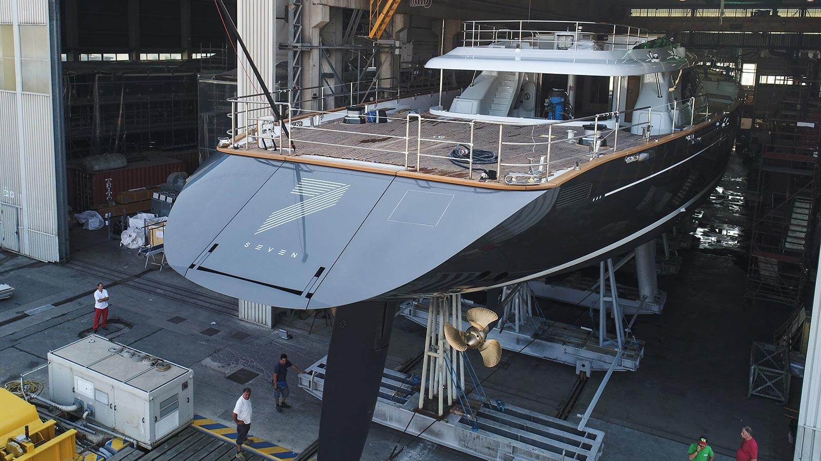Perini Navi Sailing Yacht Seven Launched Transom