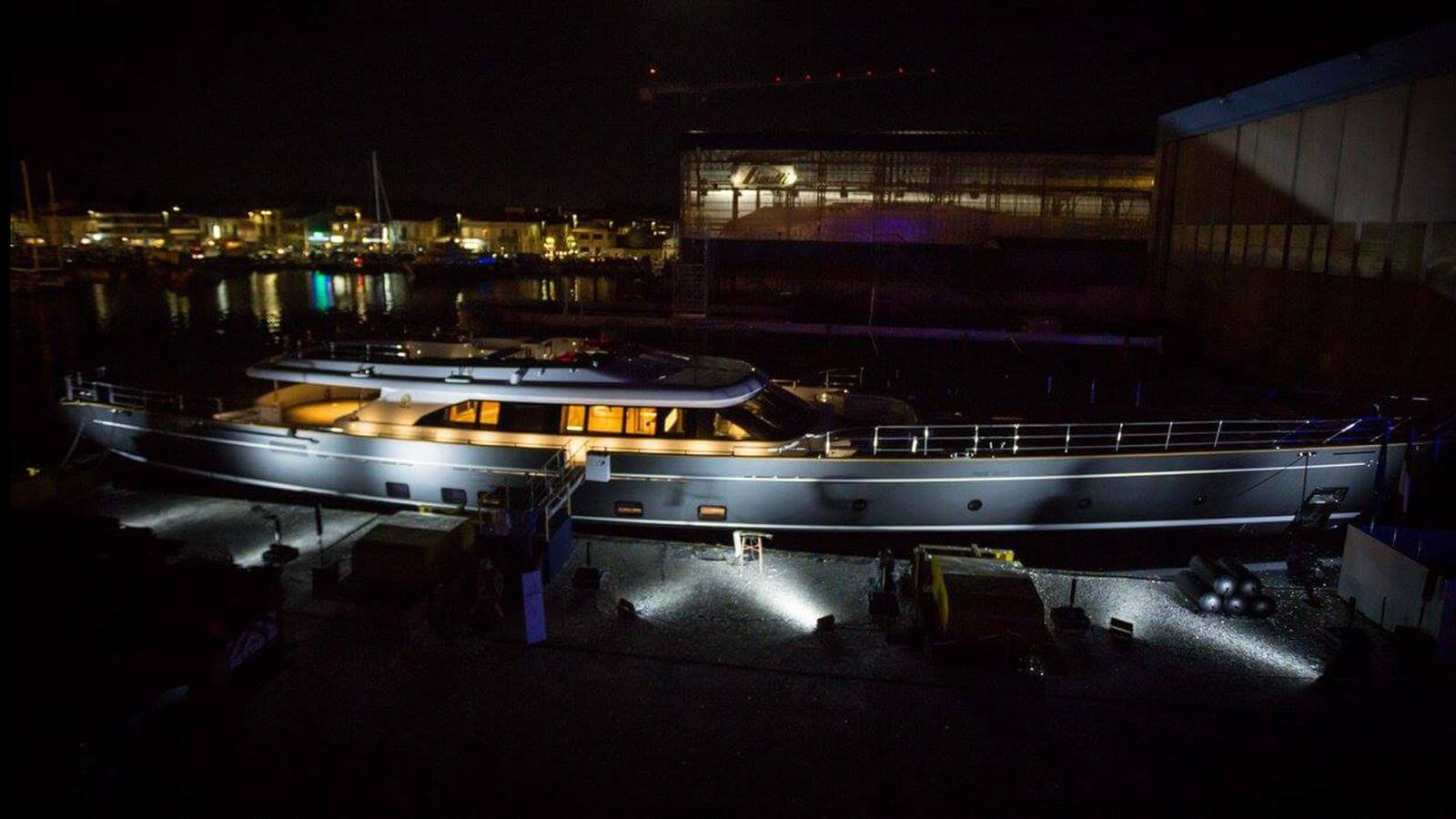 Perini Navi Sailing Yacht Seven Launched