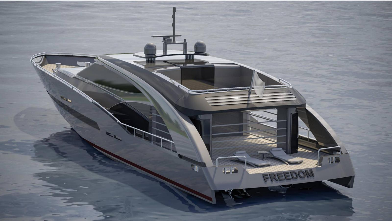 Freedom Cerri Cantiere Navali Yacht Side View