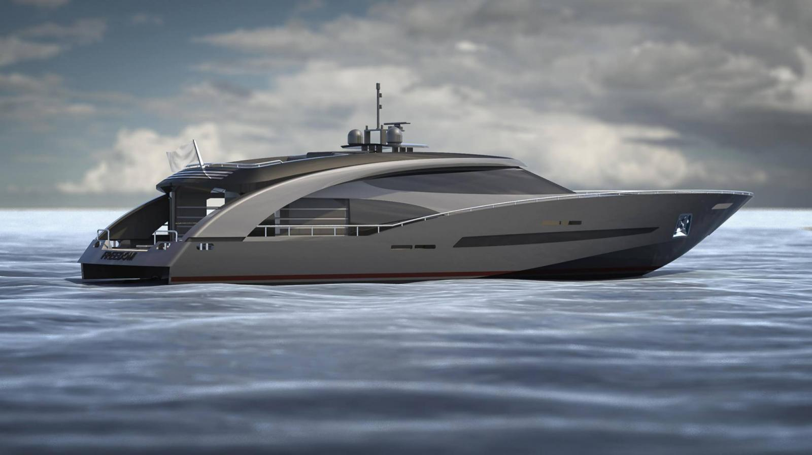 Freedom Cerri Cantiere Navali Yacht AFT View