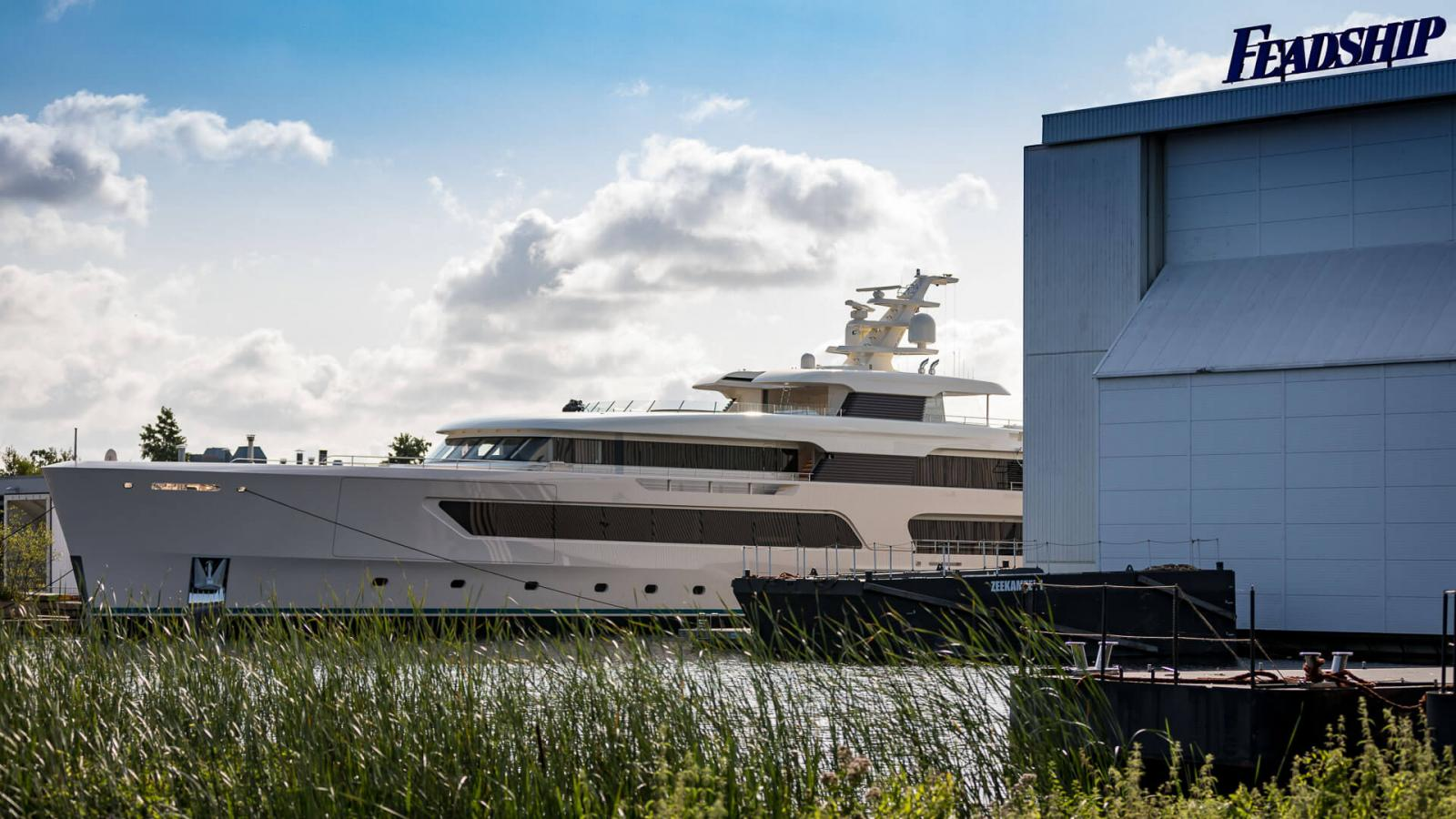 Feadship Hull 696 Superyacht Emerges