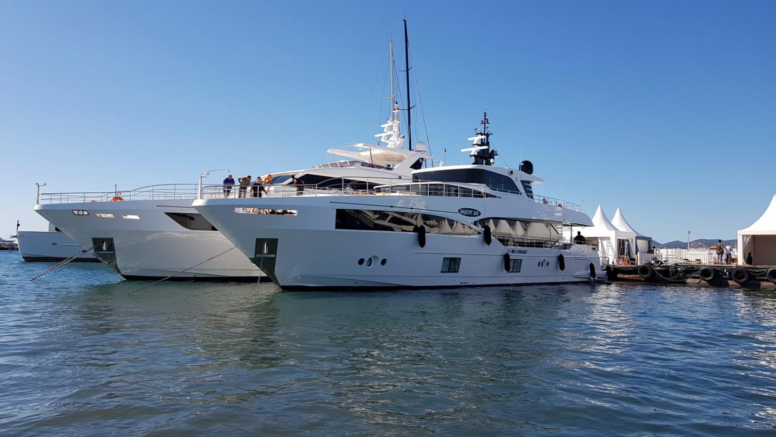 Gulf Craft - Majesty 100 and 110 at Cannes Yachting Festival