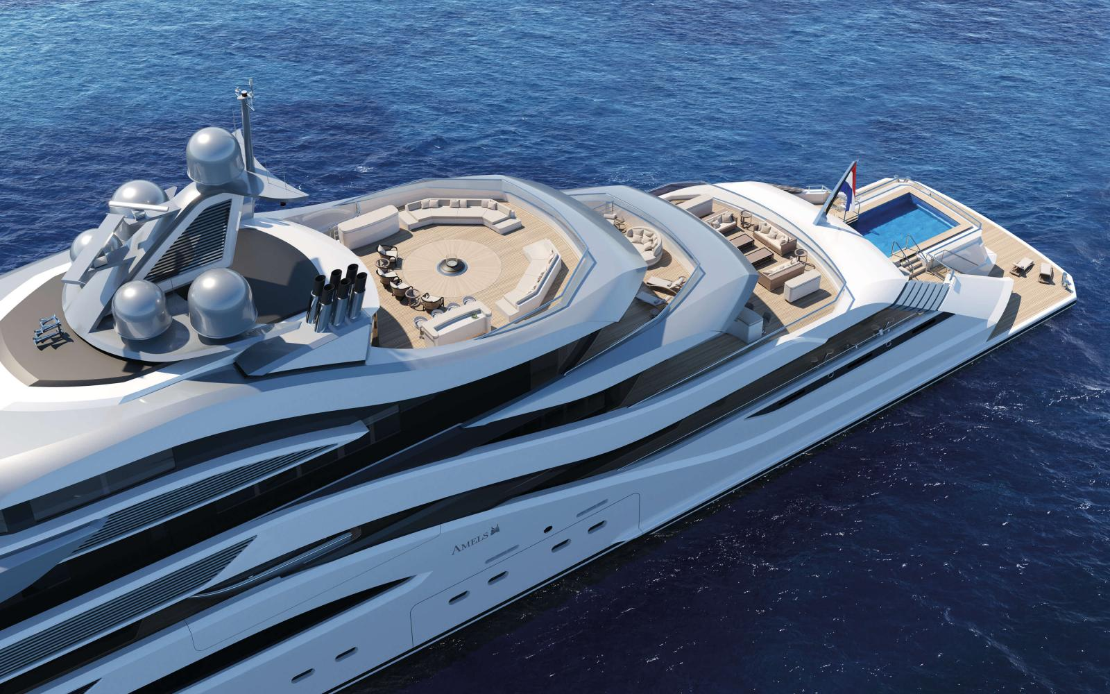 Amels 111 Yacht Pollux - Sundeck View