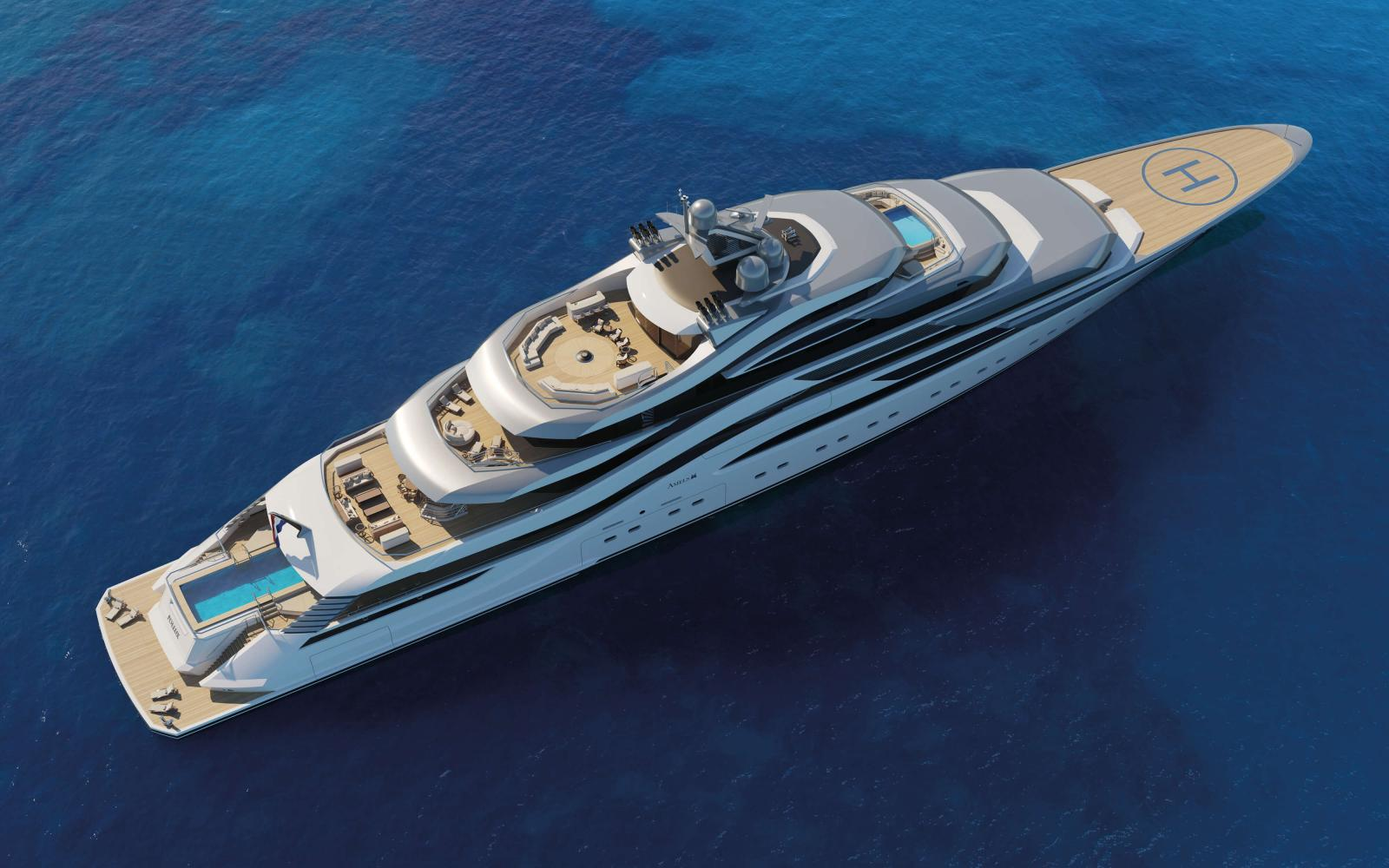 Amels 111 Yacht Pollux - Top View