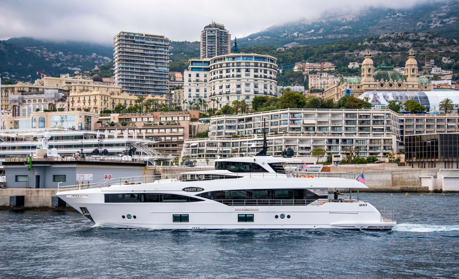 Majesty 110 arriving at the port of Monaco