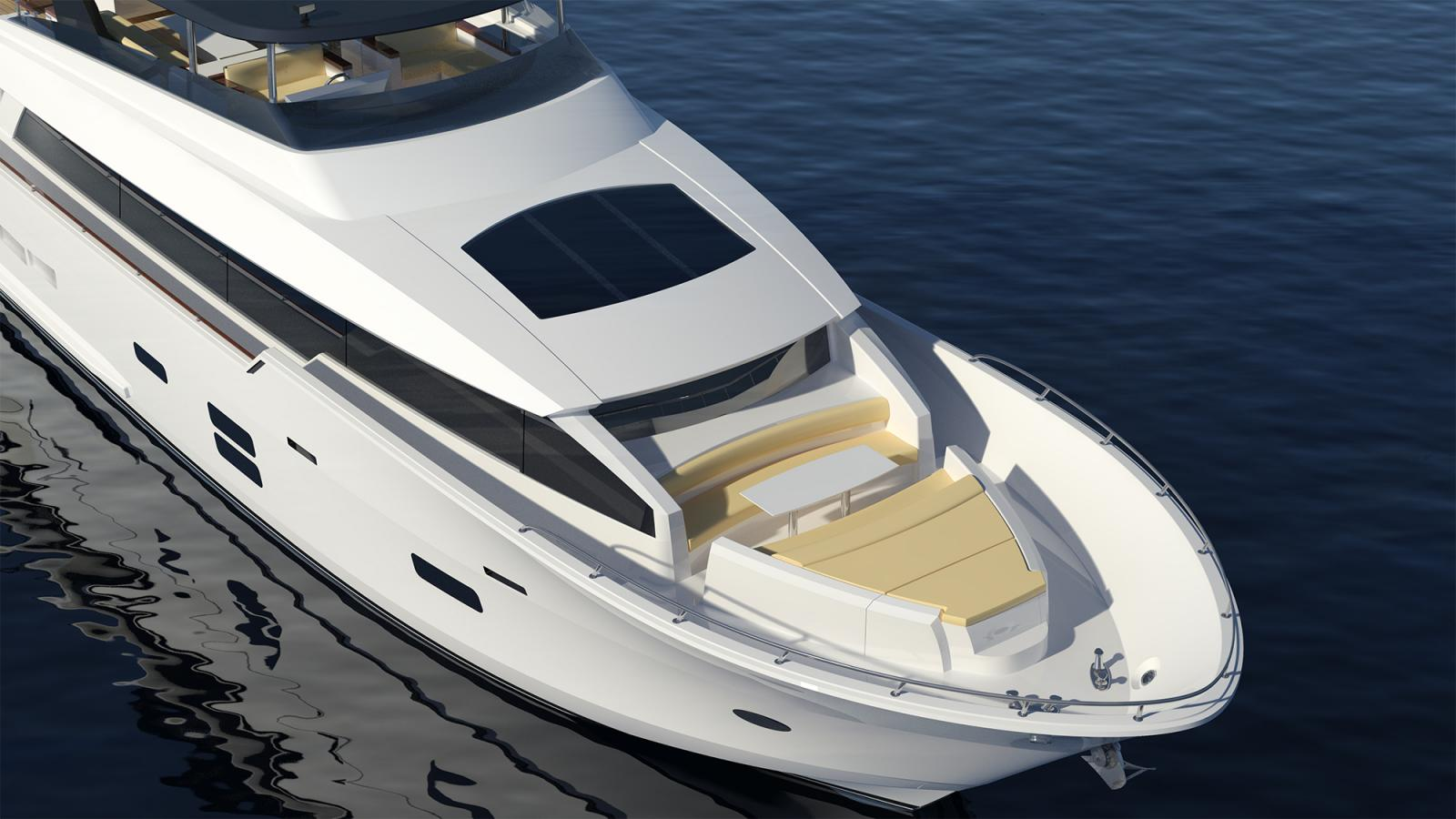 First Hatteras 90 Motor Yacht Under Construction