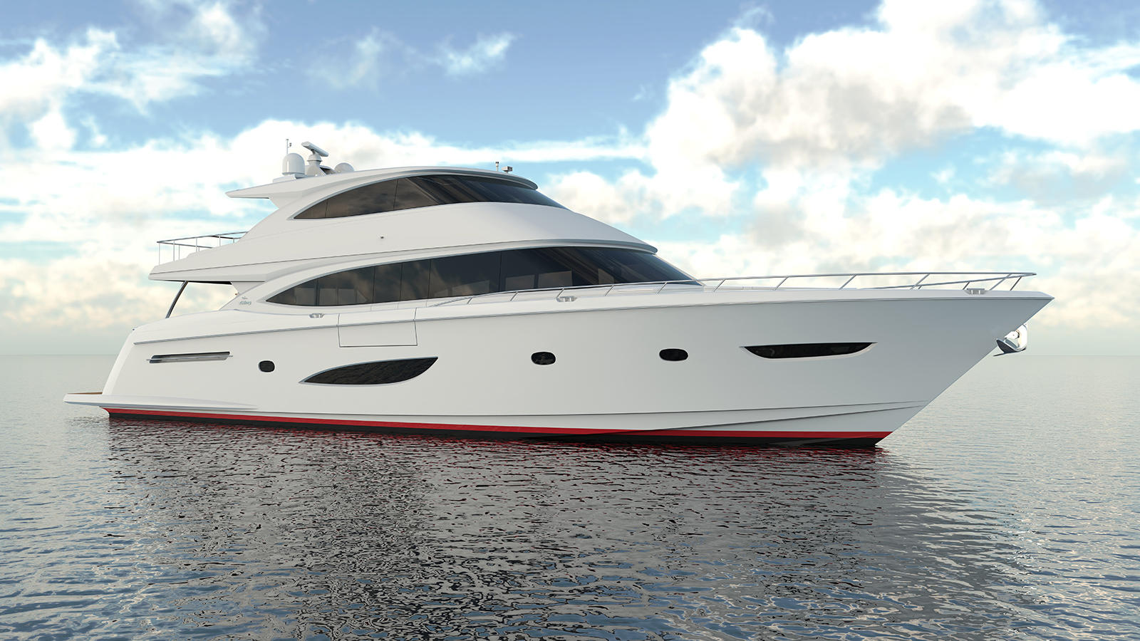 First Viking 93 Motor Yacht Takes Shape in Gretna