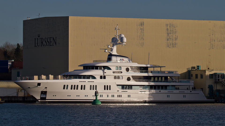 Lürssen Superyacht Project Thor Launched and Named Aurora